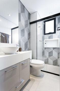 Ladrilho hidráulico no banheiro