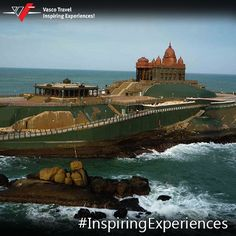 The breathtaking Vivekananda Memorial is located in the coastal city of Kanyakumari.