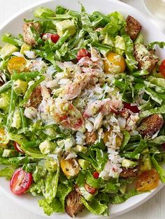 Crab and Avocado Salad : This salad gets low-cal creaminess from strained Greek yogurt and healthy fats from avocado.