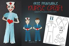 It's National Nurses Week! Here's a FREE Printable Nurse Craft from LearnCreateLove.com
