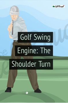 The engine of your golf swing in the shoulder turn. Here is how to nail the shoulder turn and improve both your distance and accuracy. Golf 2, Play Golf, Golf Tips Driving, Volleyball Tips, Golf Putting Tips, Club Face, Golf Drivers, Golf Instruction, Golf Exercises