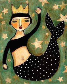 Vintage Mermaid, Mermaid Art, Mermaid Images, Mermaid Paintings, Tattoo Mermaid, Mermaid Illustration, Illustration Art, Painting Prints, Art Prints
