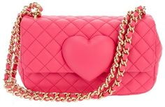 Moschino Cheap & Chic Quilted Chain Bag in Pink
