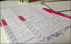 Blog post: How to organize your organizer. Steps for successful planning this school year.