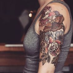 Alice Carrier's brown tattoo