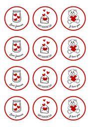 #SanValentin #Diadelosenamorados #14defebrero #ValentinesDay #stickers #imprimiblegratis #CartelGratis #etiquetas #freeprintable #ideasderegalo Decorative Plates, Printable Labels, Card Templates Printable, Valentines, Fiestas