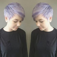 Pixie Haircuts with Side Swept Bangs - Balayage, Short Hairstyles