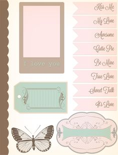Scrapbooking Embellishments | papers and 1 page of embellishments. These free printable scrapbook ...