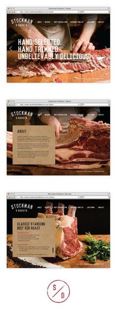 Stockman, Masculine, Website, Branding, Photography, Food