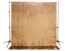 NEW Gold Sequin Photobooth Backdrop 9' x 9' for by SparklePonyShop