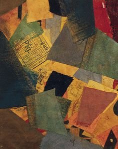 love the colors! Kurt Schwitters collage.