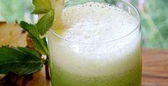 Suco de Abacaxi com Água de Coco e Hortelã