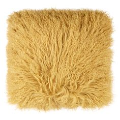 """""""The Cushion Factory"""" Yellow Mongolian Sheepskin Cushion - TK Maxx"""