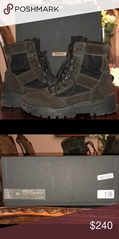 58780761 Yeezy season 4 combat boots oil suede size 12 Yeezy Season 4 Military Boots  Size 46
