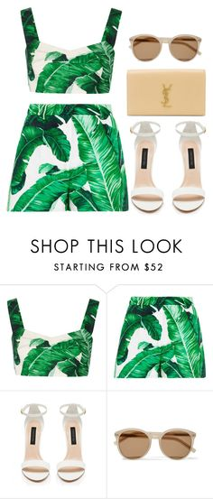 """""""Style #10678"""" by vany-alvarado ❤ liked on Polyvore featuring Dolce&Gabbana, Forever New and Yves Saint Laurent"""