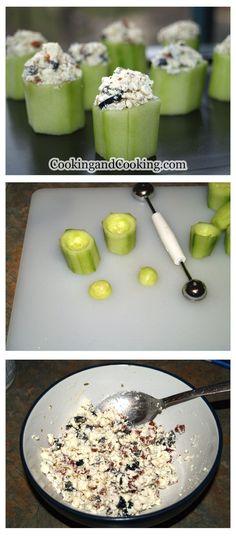 Stuffed Cucumber Cups Recipe