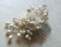 Bridal Headpiece. Bridal Decorative Comb. by ShesAccessories