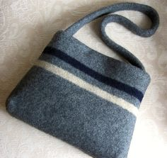 Purse, hand bag made with up-cycled sweaters by FeltSewGood.
