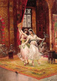 Handmade oil painting reproduction of Stephan Sedlacek Harem Dancers - on canvas and available in any size or choose another work from more than different oil paintings and artists. The highest quality paintings and great customer service! Dance Oriental, Empire Ottoman, Most Famous Paintings, Turkish Art, Arabic Art, Oil Painting Reproductions, Arabian Nights, Dance Art, Islamic Art