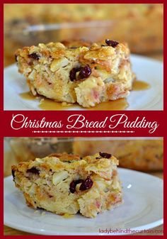 This Christmas Bread Pudding is not only delicious but also easy to make. Especially if you make it the day before. I not only make this Christmas Bread