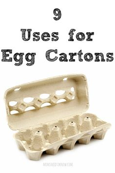 Like many things, egg cartons can find new life in many ways and reduce the amount of waste. Here are 9 uses for your empty egg cartons! Frugal Living Tips, Frugal Tips, Ways To Save Money, How To Make Money, Money Tips, Egg Carton Crafts, Egg Cartons, Plastic Eggs, Saving Ideas