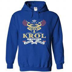 its a KROL Thing You Wouldnt Understand  - T Shirt, Hoo - #mens shirt #cool shirt. LOWEST SHIPPING:  => https://www.sunfrog.com/Names/it-RoyalBlue-45157603-Hoodie.html?id=60505