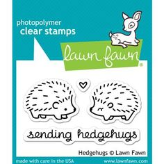 You'll love the clever phrase and adorable images of the Hedgehugs Clear Acrylic Stamp Set by Lawn Fawn. This set coordinates with the Hedgehugs Lawn Cuts Lawn Fawn Blog, Tampons Transparents, Lawn Fawn Stamps, Penny Black, Copics, My Stamp, Digital Stamps, Clear Stamps, Project Life