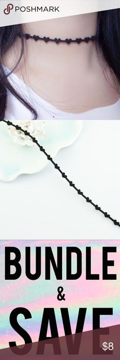💎CHIC💎 Dainty Black Hearts Choker Necklace Gift 🔻LAST ONE🔻  BRAND NEW  All items arrive adorably gift wrapped! Easy Christmas gift, stocking stuffer, wedding & bridesmaid gift.   Simply bundle your items & save $$$!   Thanks for your support! 😘  WHILE SUPPLIES LAST... ENJOY 💕  4 Exposure Only: NOT Nasty Gal, Victoria's Secret, Sephora, MAC, H&M, Lululemon, Francesca's, Kate Spade, J Crew, Kardashian, Kylie, Free People, Juicy, Stella & Dot, Tory Burch, Smashbox, Anthropology, Urban…