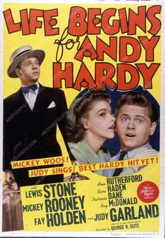 Mickey Rooney Judy Garland film Life Begins for Andy Hardy 35m-4428