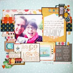 scrapbook page by shimelle laine @ shimelle.com ( love the layering)