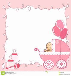 Baby Shower Card Template Fresh 26 Of Baby theme Border Template Printable Baby Shower Invitations, Baby Shower Invites For Girl, Baby Shower Printables, Baby Shower Messages, Baby Shower Cards, Baby Girl Elephant, Elephant Baby Showers, Baby Shower Invitaciones, Baby Shower Princess