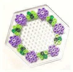 Floral wreath hama perler beads by theasvendsen - BEADING DIY Easy Perler Bead Patterns, Perler Bead Designs, Melty Bead Patterns, Perler Bead Templates, Hama Beads Design, Diy Perler Beads, Perler Bead Art, Pearler Beads, Beading Patterns