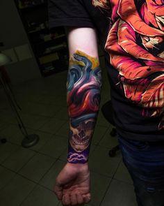 Tattoo artist Nikolay Dzhangirov color realistic tattoo