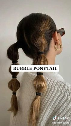 College Hairstyles, Cute Hairstyles, Hollywood Curls, Bubble Ponytail, Short Hair Styles Easy, Hair Transformation, Cool Hair Color, Hair Videos, Hair Looks