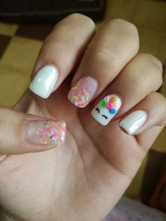 Semi-permanent varnish, false nails, patches: which manicure to choose? - My Nails Unicorn Nails Designs, Unicorn Nail Art, Girls Nail Designs, Nail Art Designs, Really Cute Nails, Pretty Nails, Little Girl Nails, Irish Nails, Nautical Nail Art