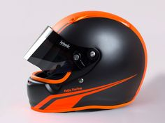 #helmade Classic in #neonorange with beautiful #antmancustomtrix #trimz #bulletz and #grillz. Get yourself some accessories and style up ypur race helmet on www.helmade.com