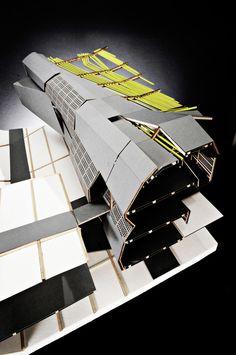Architecture Images, School Architecture, Interior Architecture, School Presentation Ideas, Parasitic Architecture, Deconstructivism, Arch Model, Container House Plans, Parametric Design