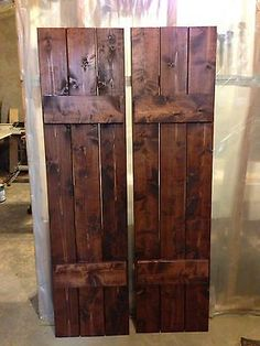 Craftsman Style Cedar Board and Batten Shutters | eBay