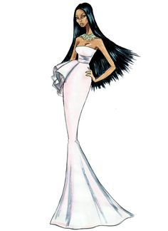 Pocahontas in Dior - by Armand Mehidri (Disney Princesses on the Red Carpet)