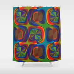 """Stop neglecting bathroom decor - our designer Shower Curtains bring a fresh new feel to an overlooked space. Hookless and extra long, these bathroom curtains feature crisp and colorful prints on the front, with a white reverse side. - One size: 71"""" (W) x 74"""" (H) - Made in the USA with 100% polyester - 12 buttonhole-top for easy hanging - Machine washable, tumble dry - Rod, curtain liner and hooks not included"""