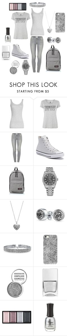 """""""Grey Casual"""" by yourboiskye on Polyvore featuring Vince, Blake Seven, Paige Denim, Converse, Eastpak, Rolex, Silver Expressions by LArocks, Bling Jewelry, Obsessive Compulsive Cosmetics and Nails Inc."""