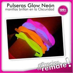 ¡ Manillas Neón Glow Sitck Pulsera Luminosa X50u Hora Loc !!