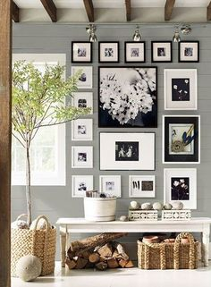 Juxtapost - Living Room Color: Benjamin Moore - Coventry gray / For the home