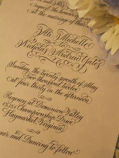 Beautiful Elegant Calligraphy