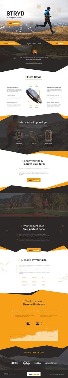 Stryd homepage concept by Green Chameleon