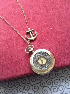 steampunk pocket watch necklace Pirates of by Victorianstudio, $18.96