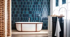 Bathroom trends for 2017 include the combination of organic and modern materials. The Lariana bathtub by Patricia Urquiola for Agape is a classic example. Patricia Urquiola, Contemporary Bathroom Accessories, Bathroom Trends, Bathroom Ideas, Design Bathroom, Bathroom Remodeling, Amazing Bathrooms, Bathroom Inspiration, Home Deco