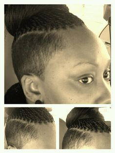 All about my braids/twist and shaved sides!!