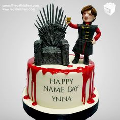Game of Thrones Cake | Iron Throne Cake Topper | Tyrion Lannister Cake Topper | by The Regali Kitchen