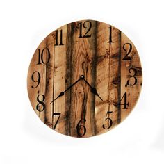 Oversized Barn Wood Wall Clock Rustic Wood by TheRusticPalette Rustic Wall Clocks, Unique Wall Clocks, Wood Clocks, Reclaimed Barn Wood, Rustic Wood, Wall Clock Gift, Gifts For Office, Large Clock, Wood Wall